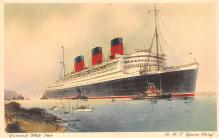 shp010565 - White Star Line Cunard Ship Post Card, Old Vintage Antique Postcard