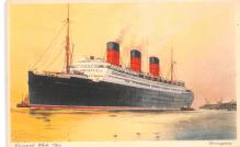 shp010581 - White Star Line Cunard Ship Post Card, Old Vintage Antique Postcard