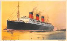 shp010583 - White Star Line Cunard Ship Post Card, Old Vintage Antique Postcard
