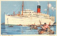 shp010595 - White Star Line Cunard Ship Post Card, Old Vintage Antique Postcard