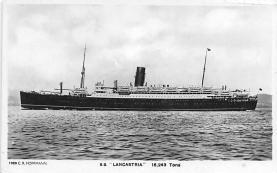 shp010615 - White Star Line Cunard Ship Post Card, Old Vintage Antique Postcard