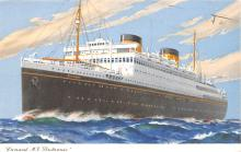 shp010617 - White Star Line Cunard Ship Post Card, Old Vintage Antique Postcard