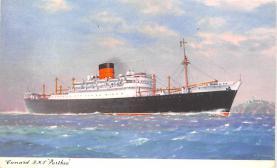 shp010631 - White Star Line Cunard Ship Post Card, Old Vintage Antique Postcard