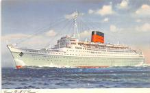 shp010641 - White Star Line Cunard Ship Post Card, Old Vintage Antique Postcard