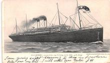shp010647 - White Star Line Cunard Ship Post Card, Old Vintage Antique Postcard