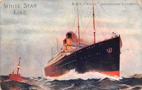 shp010653 - White Star Line Cunard Ship Post Card, Old Vintage Antique Postcard