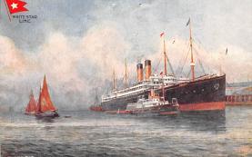 shp010655 - White Star Line Cunard Ship Post Card, Old Vintage Antique Postcard
