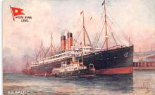 shp010657 - White Star Line Cunard Ship Post Card, Old Vintage Antique Postcard