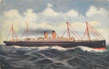 shp010661 - White Star Line Cunard Ship Post Card, Old Vintage Antique Postcard