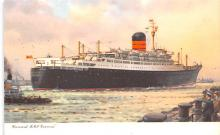 shp010665 - White Star Line Cunard Ship Post Card, Old Vintage Antique Postcard