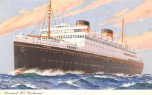 shp010683 - White Star Line Cunard Ship Post Card, Old Vintage Antique Postcard
