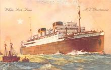 shp010691 - White Star Line Cunard Ship Post Card, Old Vintage Antique Postcard