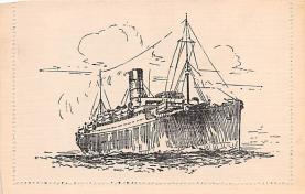 shp010693 - White Star Line Cunard Ship Post Card, Old Vintage Antique Postcard