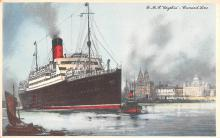 shp010705 - White Star Line Cunard Ship Post Card, Old Vintage Antique Postcard