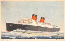 shp010707 - White Star Line Cunard Ship Post Card, Old Vintage Antique Postcard