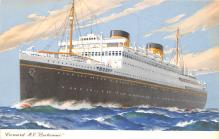 shp010713 - White Star Line Cunard Ship Post Card, Old Vintage Antique Postcard