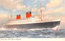 shp010715 - White Star Line Cunard Ship Post Card, Old Vintage Antique Postcard
