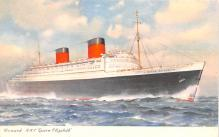 shp010717 - White Star Line Cunard Ship Post Card, Old Vintage Antique Postcard