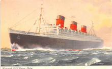 shp010721 - White Star Line Cunard Ship Post Card, Old Vintage Antique Postcard