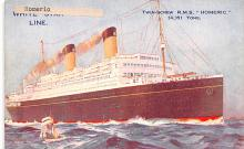 shp010723 - White Star Line Cunard Ship Post Card, Old Vintage Antique Postcard