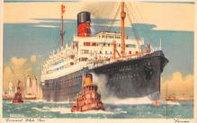 shp010725 - White Star Line Cunard Ship Post Card, Old Vintage Antique Postcard