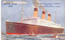 shp010733 - White Star Line Cunard Ship Post Card, Old Vintage Antique Postcard
