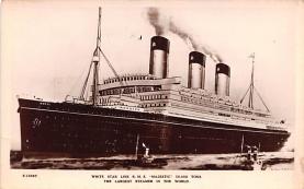 shp010737 - White Star Line Cunard Ship Post Card, Old Vintage Antique Postcard
