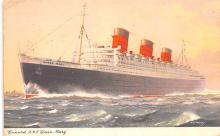 shp010743 - White Star Line Cunard Ship Post Card, Old Vintage Antique Postcard