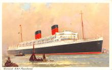 shp010751 - White Star Line Cunard Ship Post Card, Old Vintage Antique Postcard