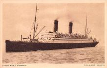 shp010753 - White Star Line Cunard Ship Post Card, Old Vintage Antique Postcard
