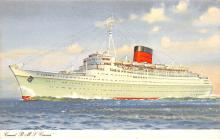 shp010761 - White Star Line Cunard Ship Post Card, Old Vintage Antique Postcard