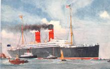 shp010765 - White Star Line Cunard Ship Post Card, Old Vintage Antique Postcard