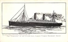 shp010767 - White Star Line Cunard Ship Post Card, Old Vintage Antique Postcard