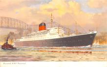 shp010771 - White Star Line Cunard Ship Post Card, Old Vintage Antique Postcard
