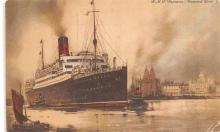 shp010787 - White Star Line Cunard Ship Post Card, Old Vintage Antique Postcard
