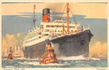 shp010799 - White Star Line Cunard Ship Post Card, Old Vintage Antique Postcard