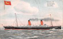 shp010805 - White Star Line Cunard Ship Post Card, Old Vintage Antique Postcard