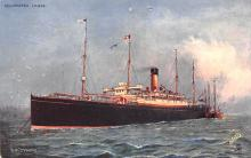 shp010809 - White Star Line Cunard Ship Post Card, Old Vintage Antique Postcard