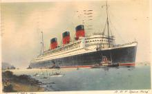 shp010823 - White Star Line Cunard Ship Post Card, Old Vintage Antique Postcard