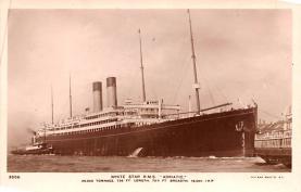 shp010825 - White Star Line Cunard Ship Post Card, Old Vintage Antique Postcard
