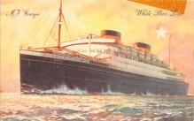 shp010835 - White Star Line Cunard Ship Post Card, Old Vintage Antique Postcard