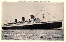 shp010863 - White Star Line Cunard Ship Post Card, Old Vintage Antique Postcard