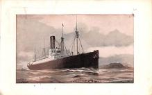 shp010869 - White Star Line Cunard Ship Post Card, Old Vintage Antique Postcard