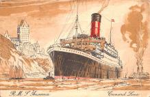 shp010889 - White Star Line Cunard Ship Post Card, Old Vintage Antique Postcard