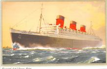 shp010891 - White Star Line Cunard Ship Post Card, Old Vintage Antique Postcard