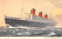 shp010897 - White Star Line Cunard Ship Post Card, Old Vintage Antique Postcard