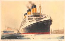 shp010901 - White Star Line Cunard Ship Post Card, Old Vintage Antique Postcard
