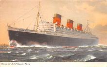 shp010903 - White Star Line Cunard Ship Post Card, Old Vintage Antique Postcard