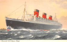 shp010905 - White Star Line Cunard Ship Post Card, Old Vintage Antique Postcard