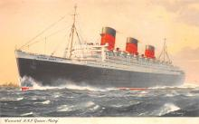 shp010907 - White Star Line Cunard Ship Post Card, Old Vintage Antique Postcard